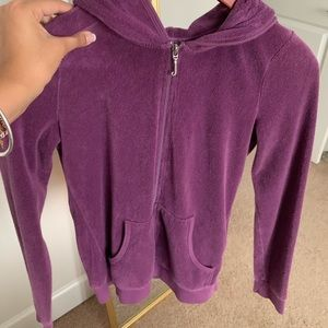 Juicy Couture Girls' Purple Zip-Up Hoodie